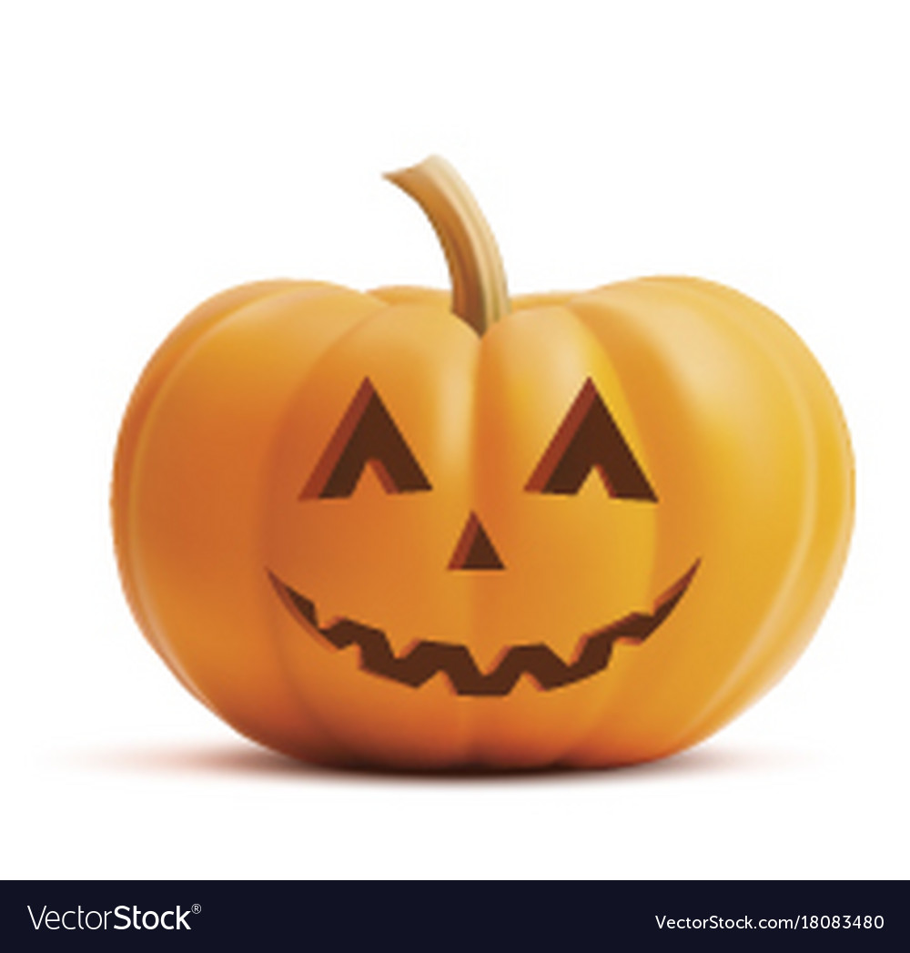 pumpkin smiling face on