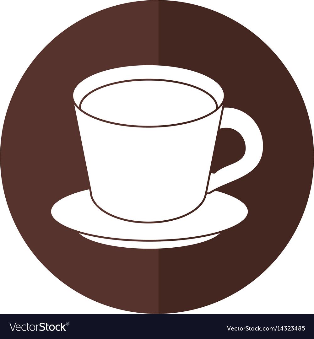 coffee cup plate shadow