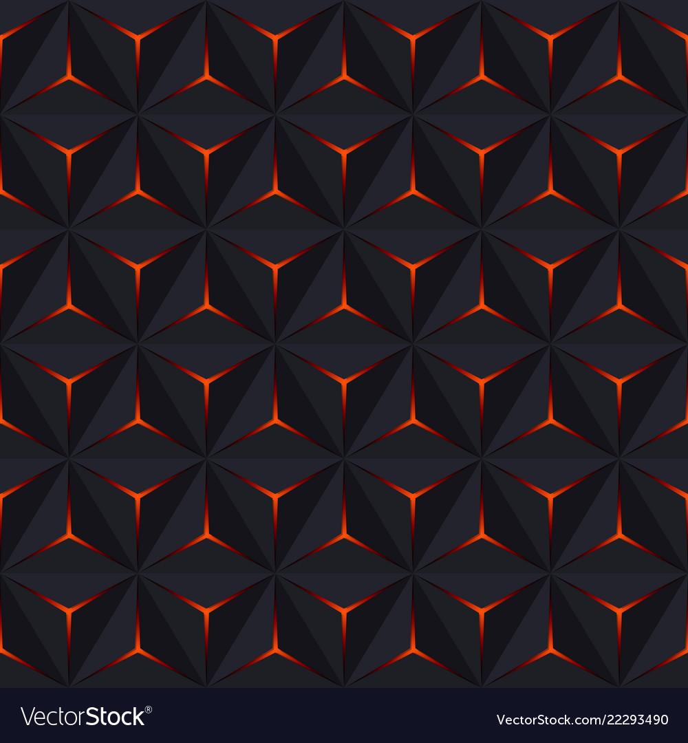 Abstract dark seamless pattern geometric Vector Image
