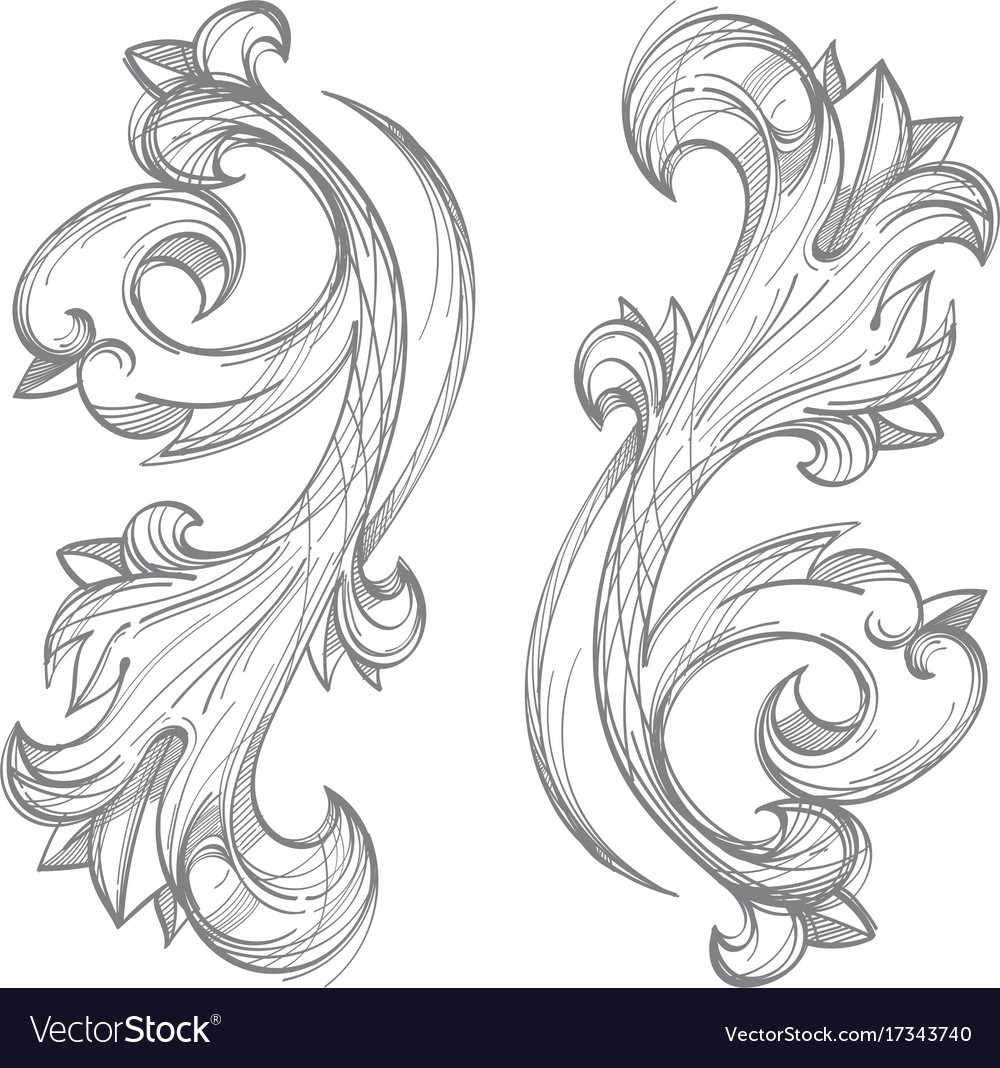 decorative floral element in