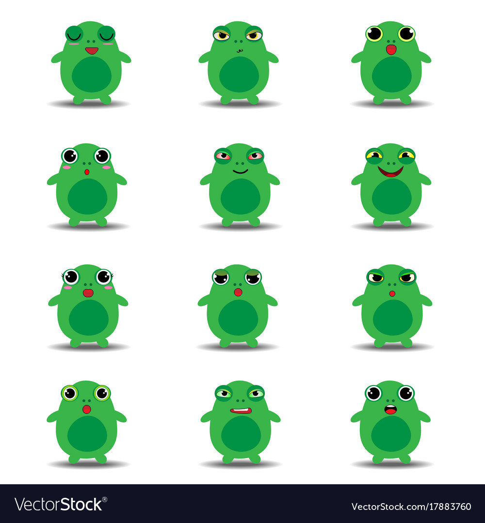 flat emoji collection of