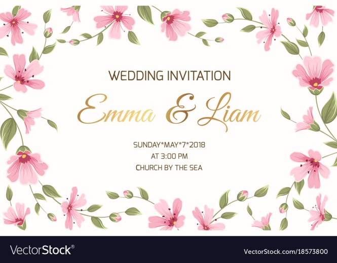 Wedding Invitation Gypsophila Flowers