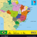 Political Map Of Brazil Royalty Free Vector Image