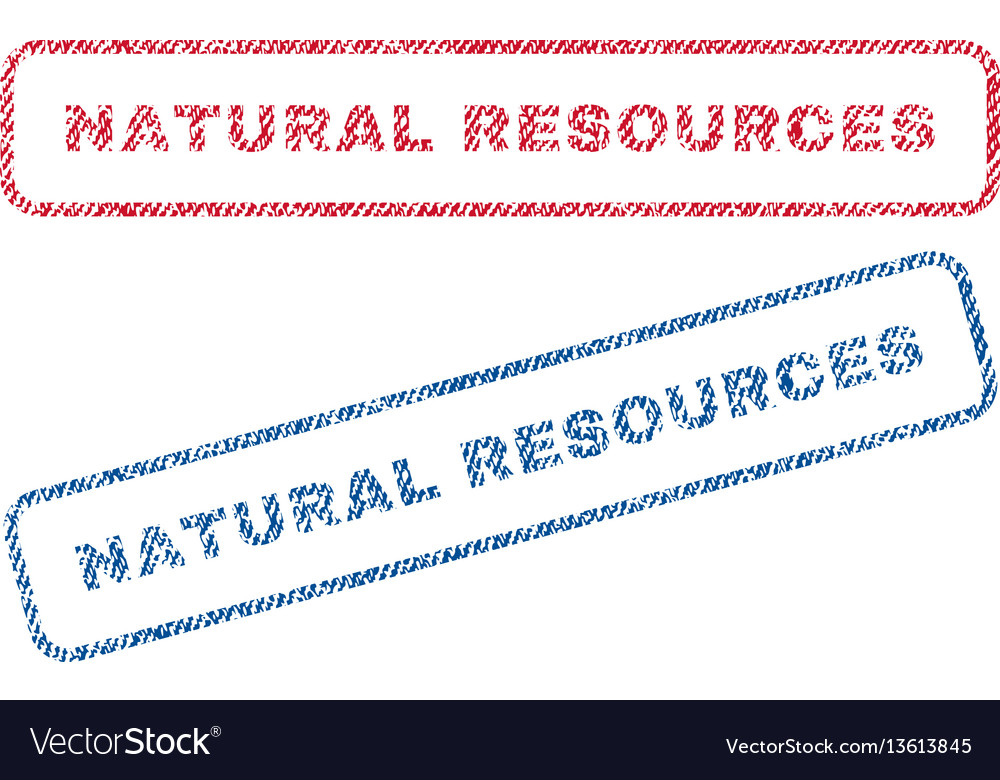 natural resources textile stamps