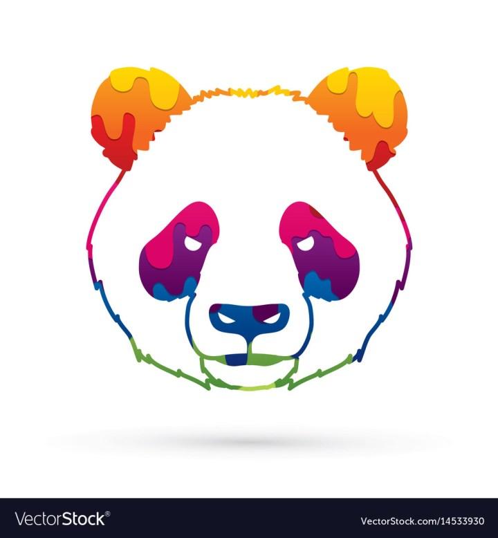 how to draw cartoon panda face