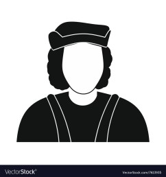 christopher columbus costume icon vector image [ 1000 x 1080 Pixel ]