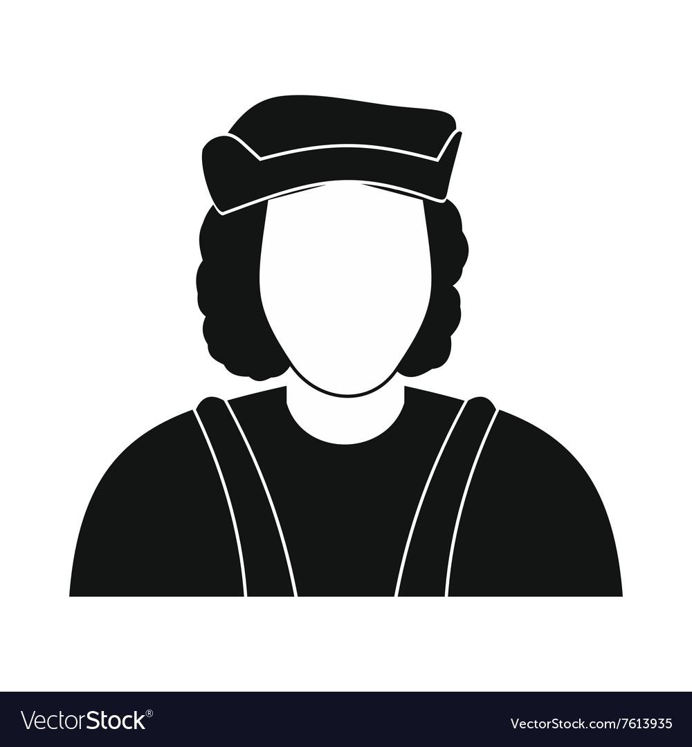 medium resolution of christopher columbus costume icon vector image