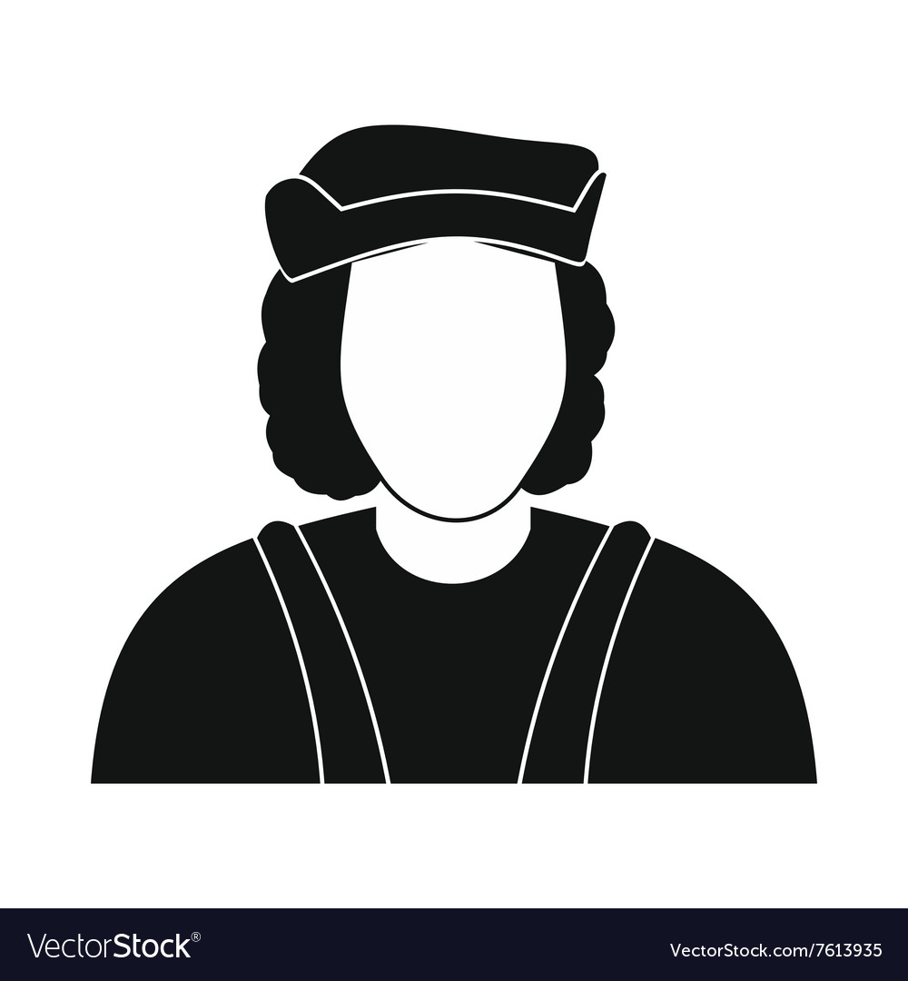 hight resolution of christopher columbus costume icon vector image