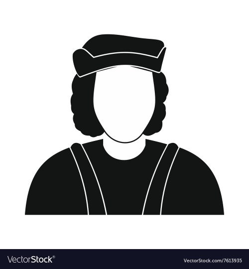 small resolution of christopher columbus costume icon vector image