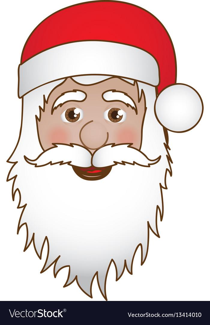 Cartoon Santa Face : cartoon, santa, Cartoon, Santa, Claus, Portrait, Royalty, Vector