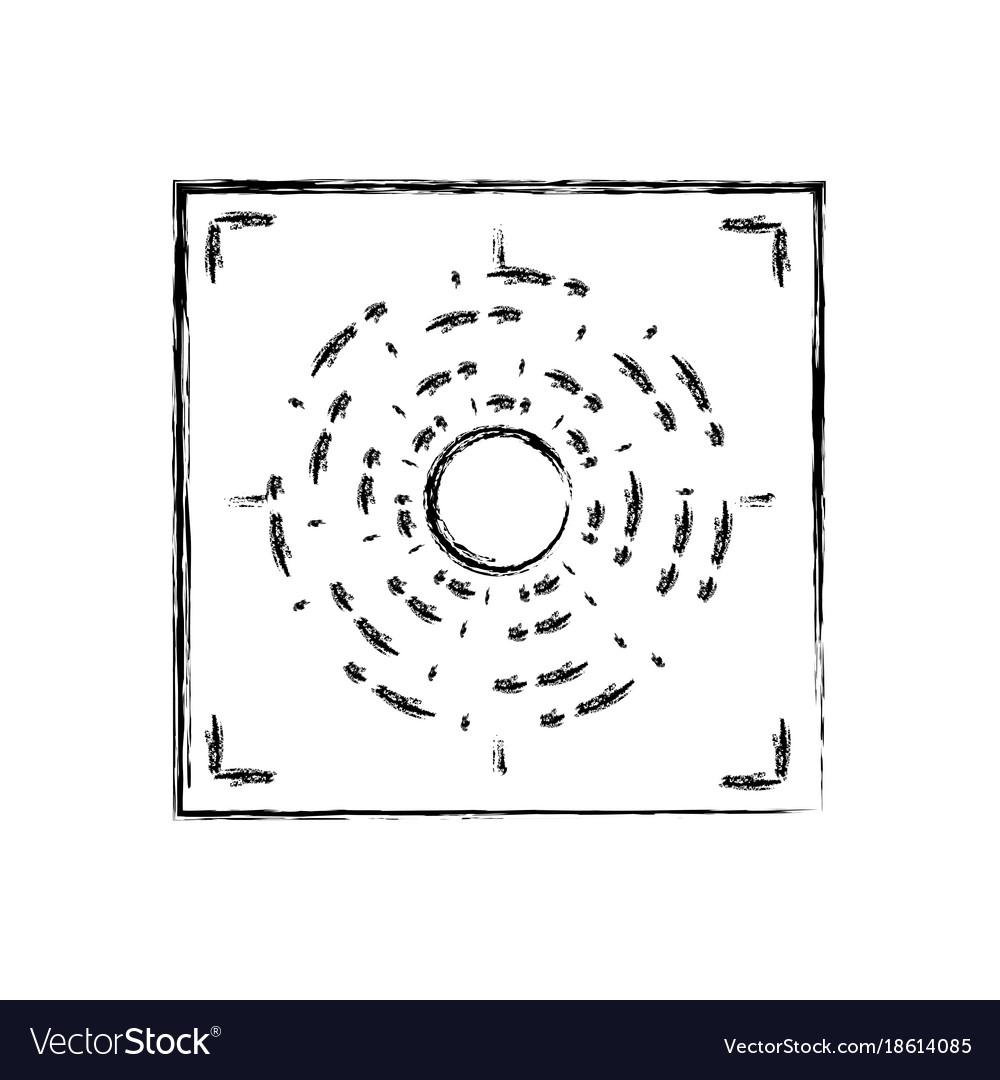 hight resolution of figure gun sight circle with shooting focus vector image pistol sight alignment chart gun sight focus diagram