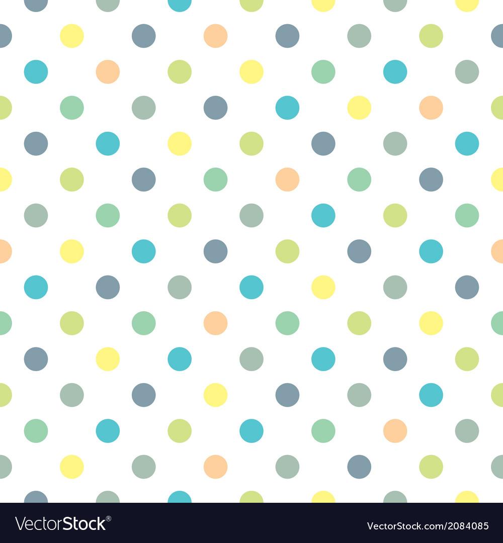 pix Blue Yellow Polka Dots vectorstock
