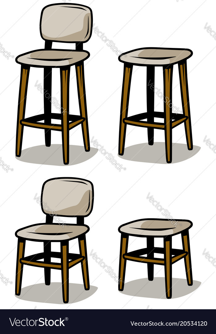 wooden chairs images high chair toys cartoon icon set royalty free vector image