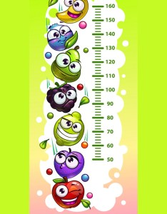 Kids height chart template vector image also royalty free rh vectorstock