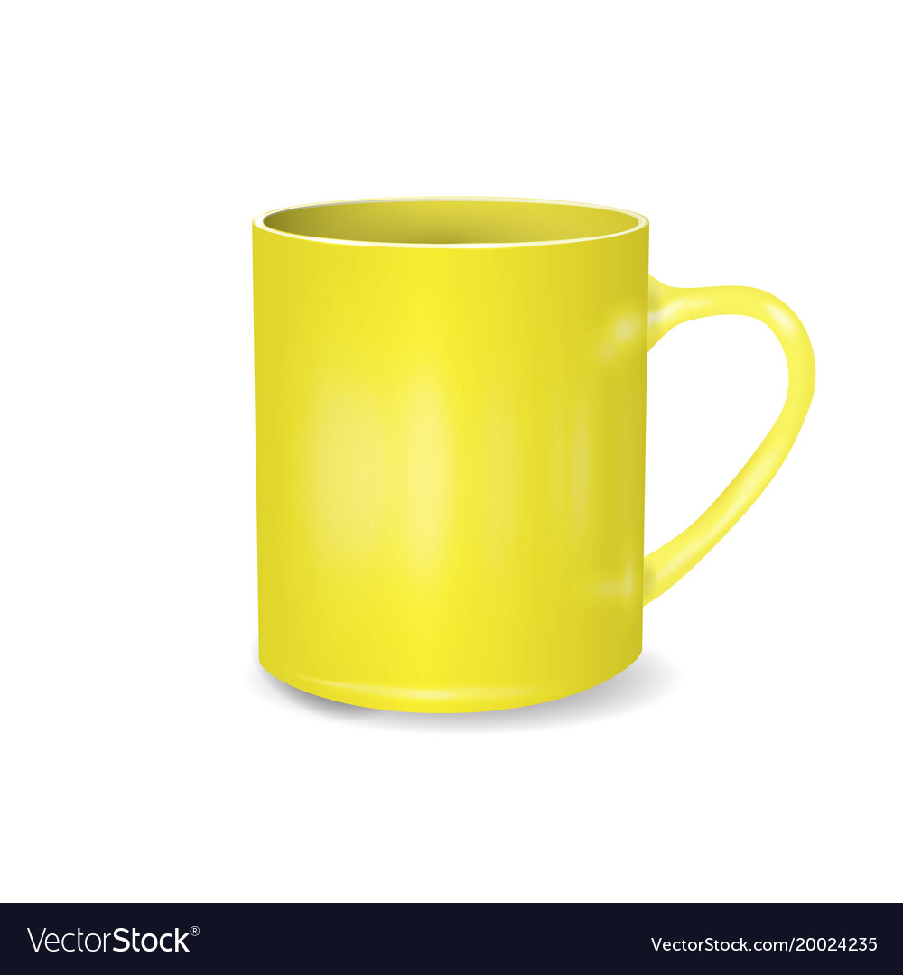 yellow cup isolated on