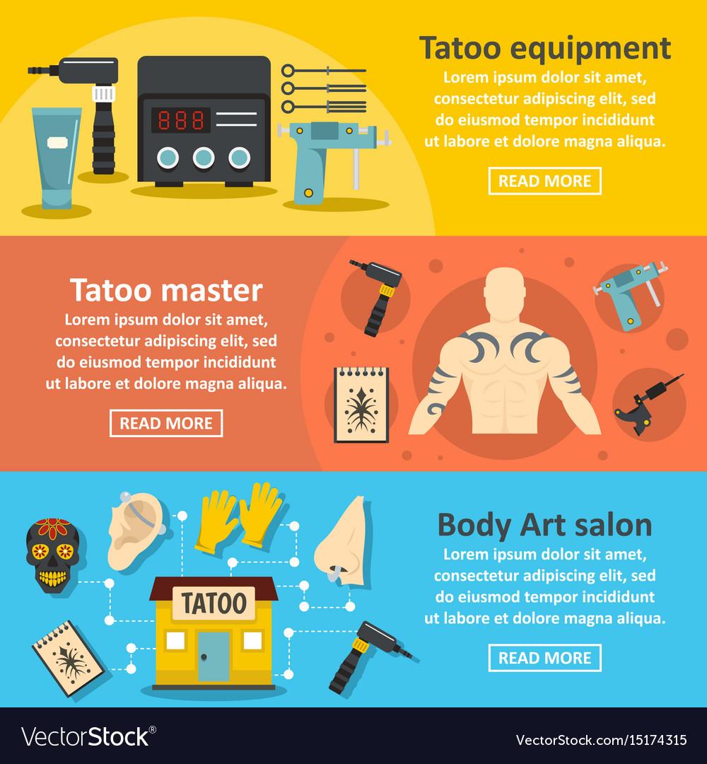 Tattoo Shop Banner Design