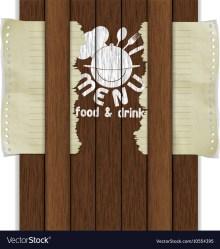 Template frame restaurant menu wooden boards white