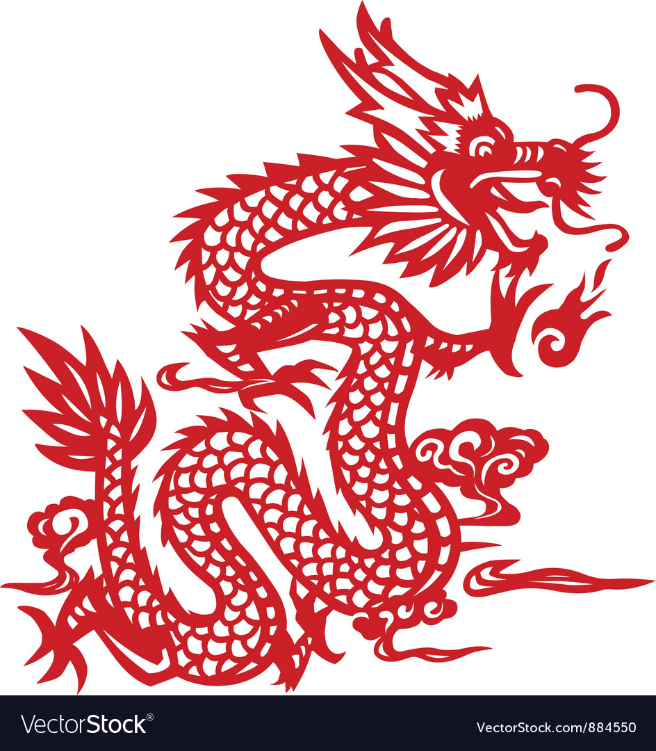 traditional chinese dragon paper