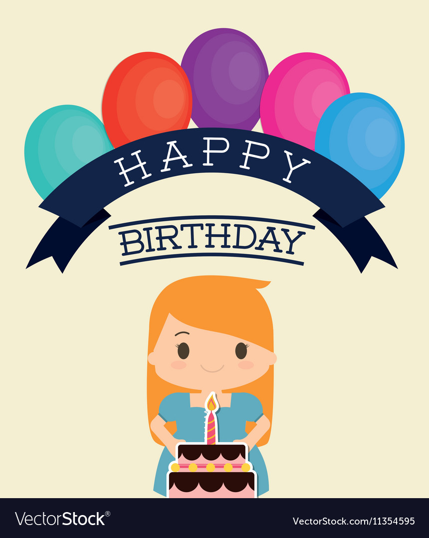 Happy Birthday Cartoon Images : happy, birthday, cartoon, images, Cartoon, Happy, Birthday, Design, Royalty, Vector