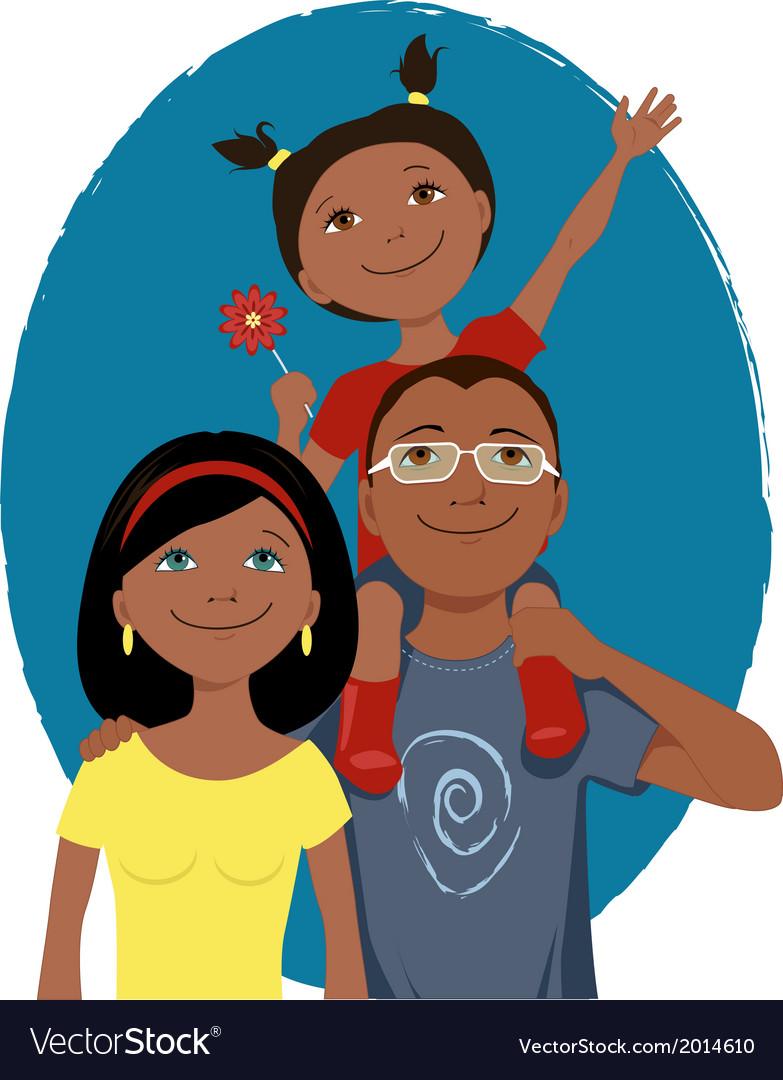 Family Photo Cartoon : family, photo, cartoon, Happy, Cartoon, Family, Portrait, Royalty, Vector, Image
