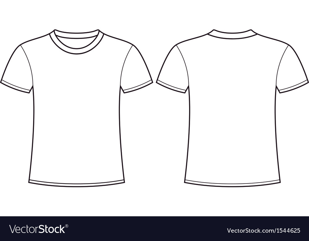 t shirt template front and back