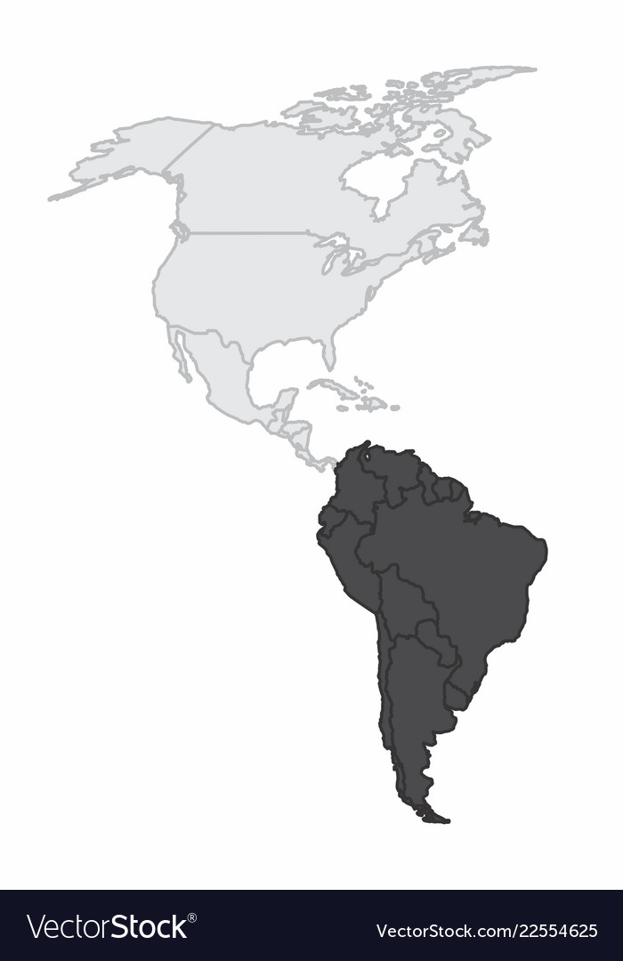 the american continent map