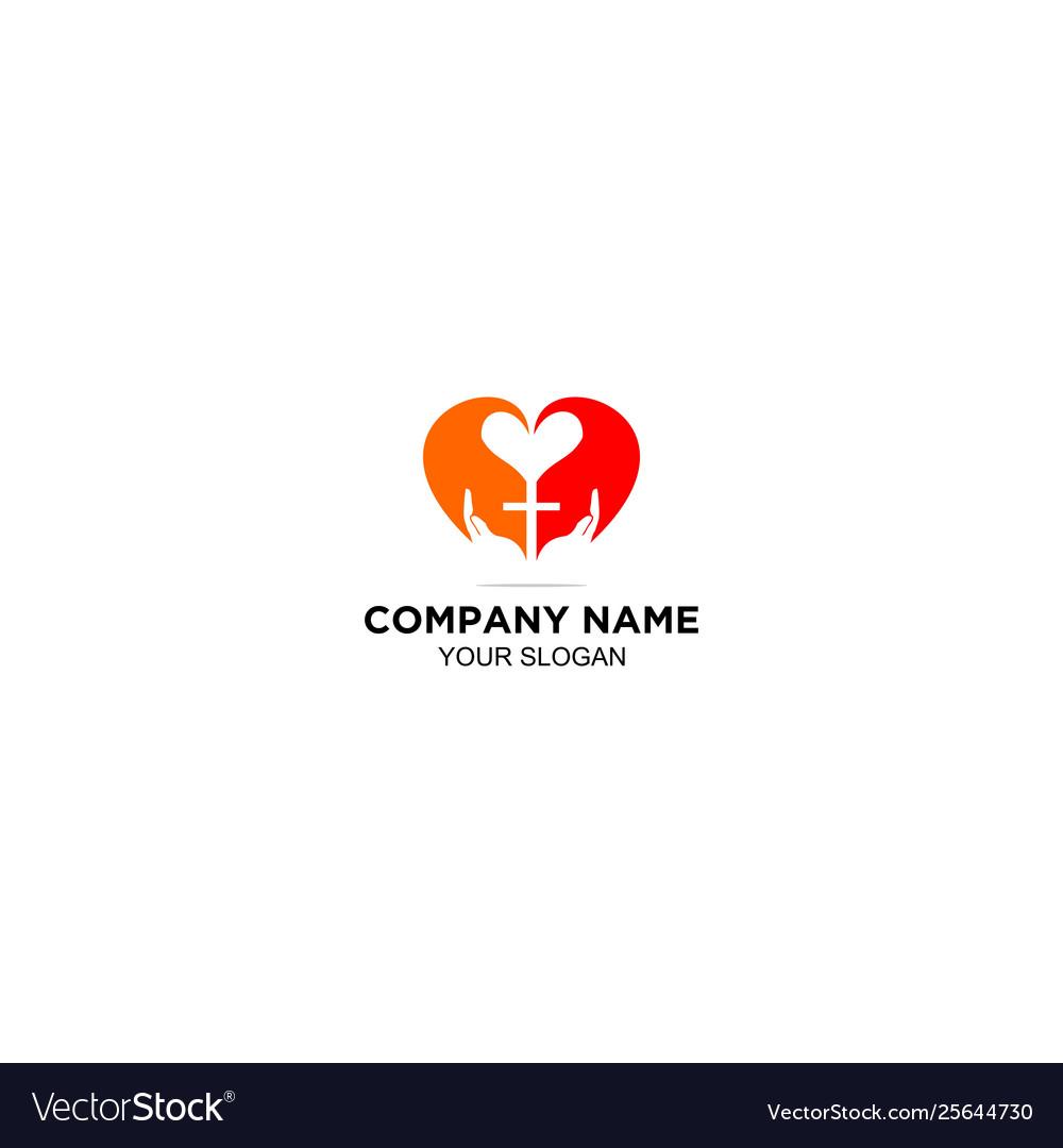 Download Love gospel church logo design Royalty Free Vector Image