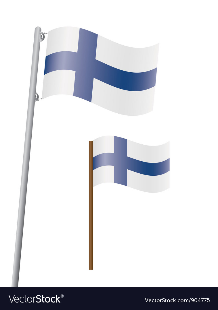 Flag Of Finland Royalty Free Vector Image Vectorstock