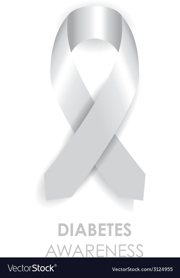 Diabetes Awareness Ribbon : diabetes, awareness, ribbon, Diabetes, Awareness, Ribbon, Royalty, Vector, Image