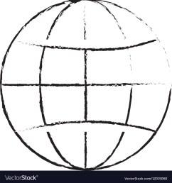 earth globe diagram icon image vector image [ 998 x 1080 Pixel ]