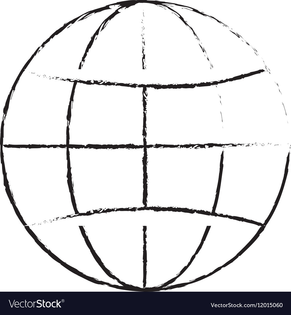 hight resolution of earth globe diagram icon image vector image