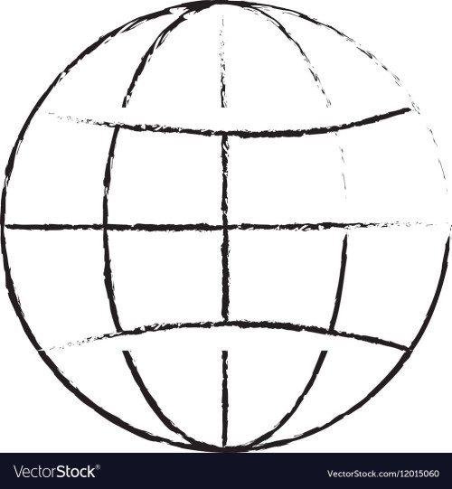 small resolution of earth globe diagram icon image vector image
