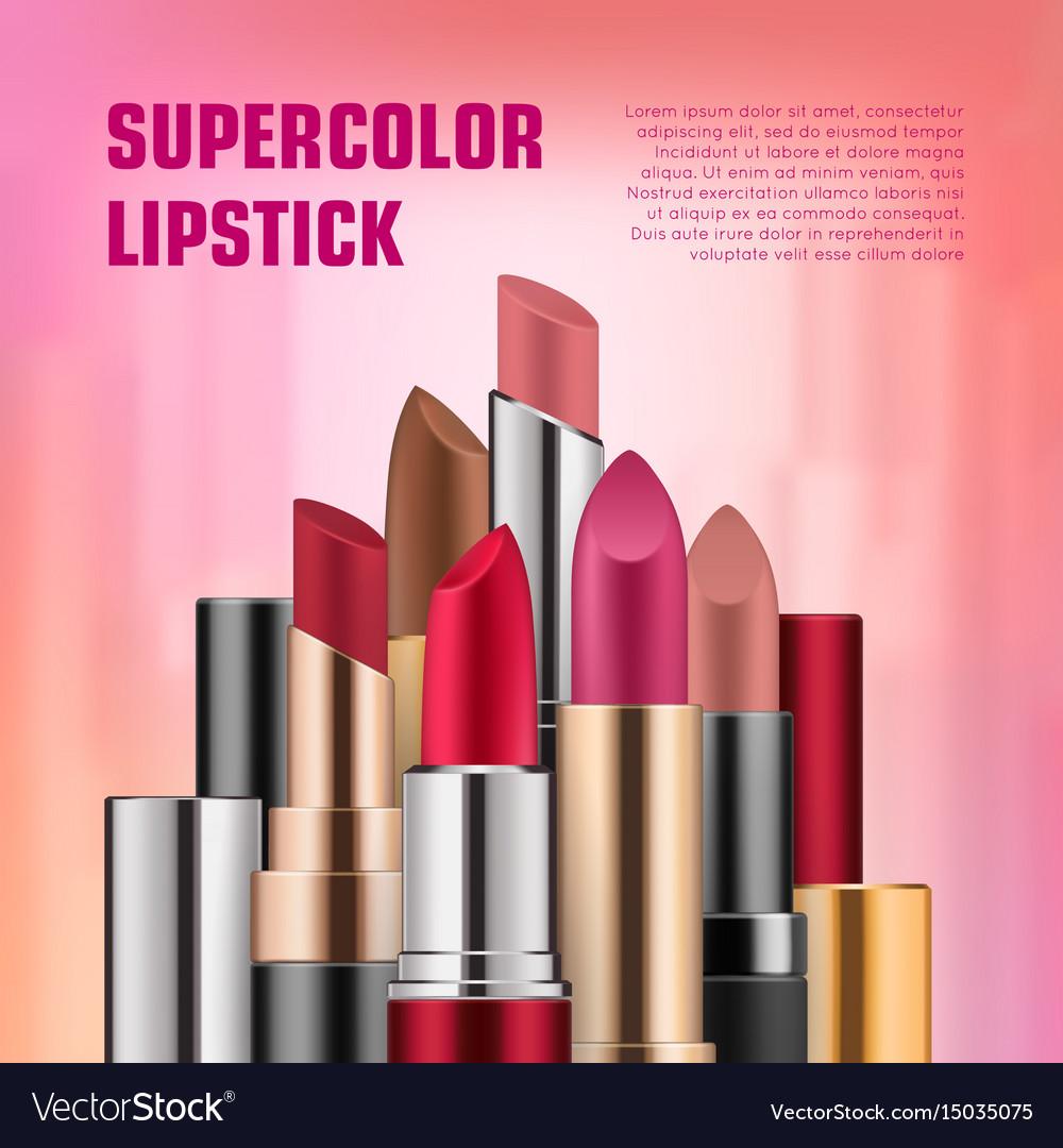 set of lipsticks for