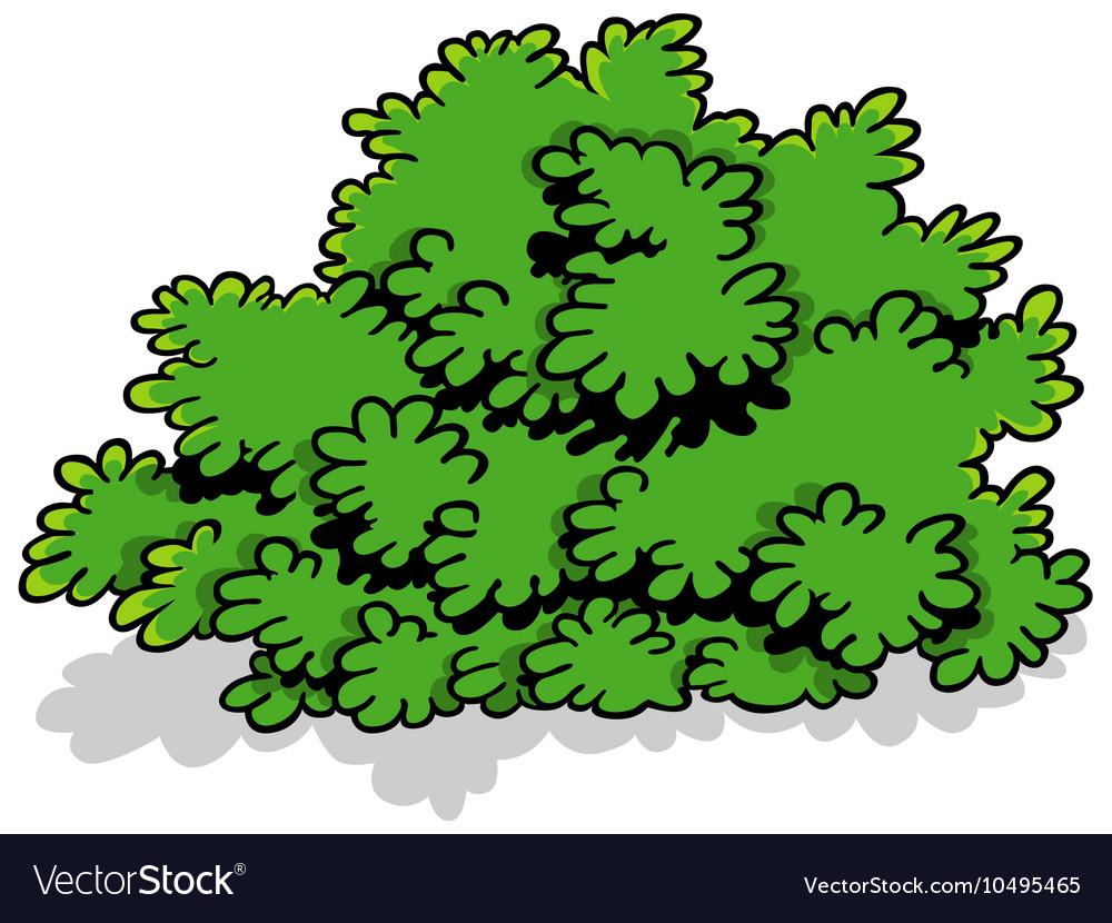 Green Cartoon Shrub Royalty Free Vector Image