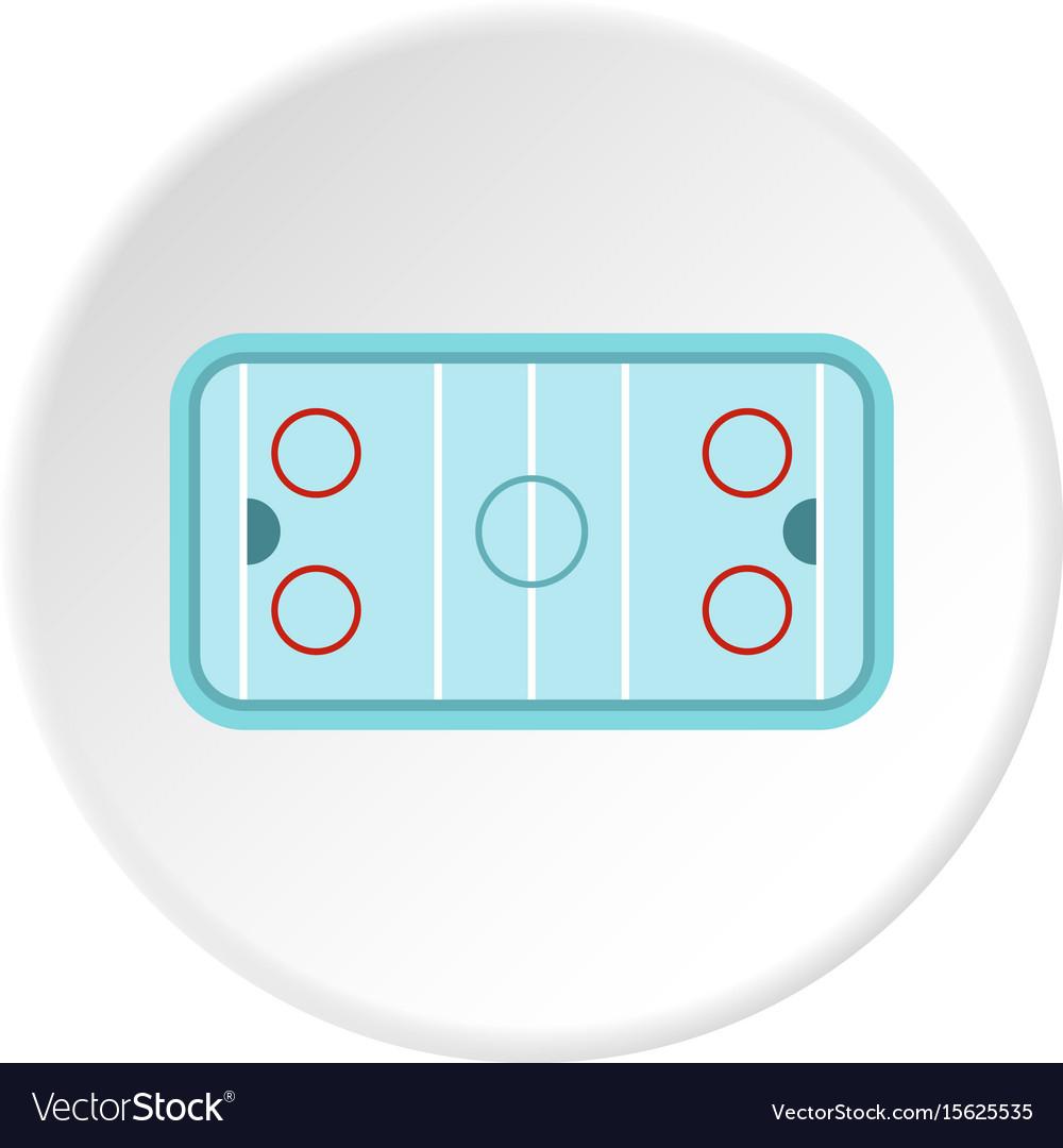 medium resolution of ice hockey rink icon circle vector image