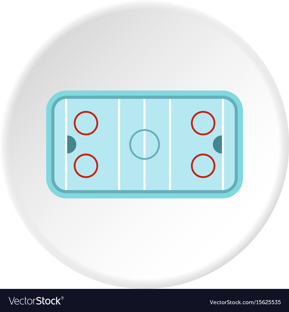 hight resolution of ice hockey rink icon circle vector image
