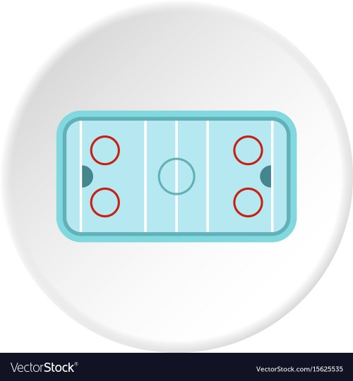 small resolution of ice hockey rink icon circle vector image