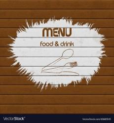 Restaurant menu paint on wooden background Vector Image