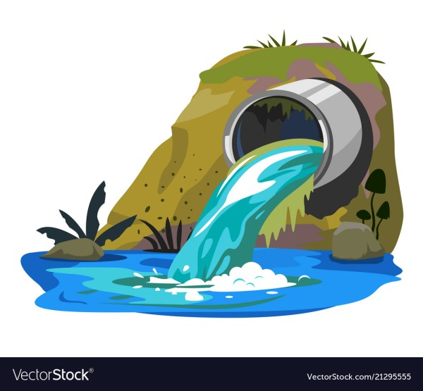 Water Pollution Industrial Pipe Royalty Free Vector