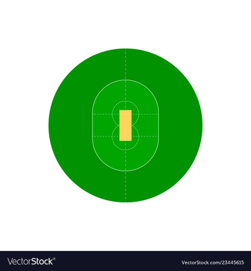 small resolution of cricket field vector image