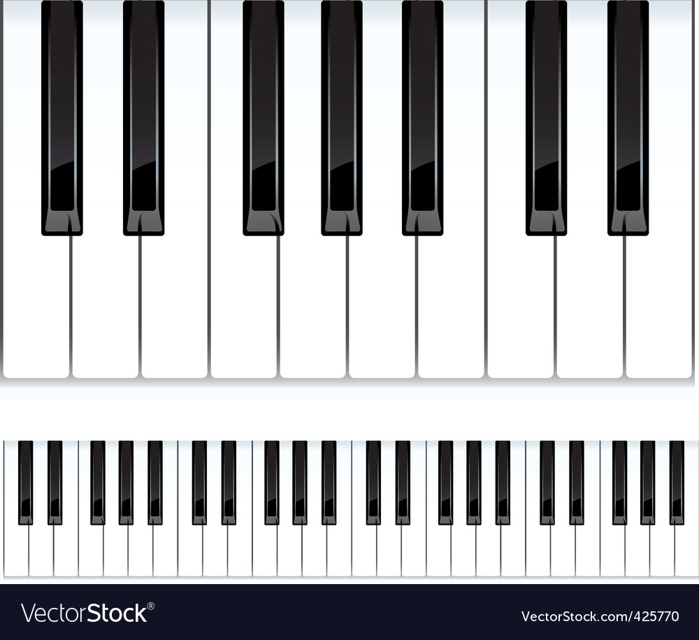 piano keys seamless vector