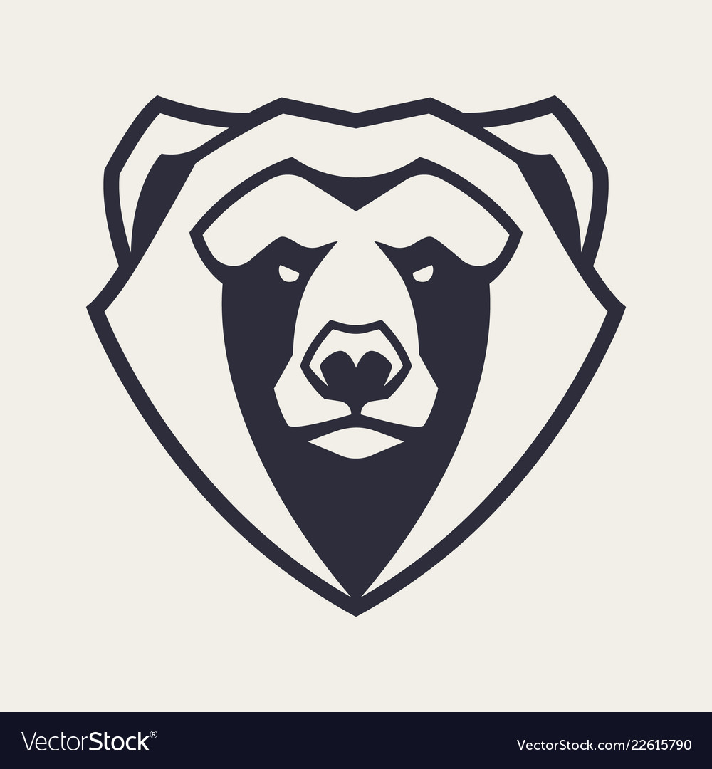 medium resolution of bear mascot icon vector image