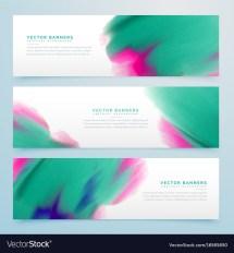 Modern Watercolor Horizontal Banner Design Vector