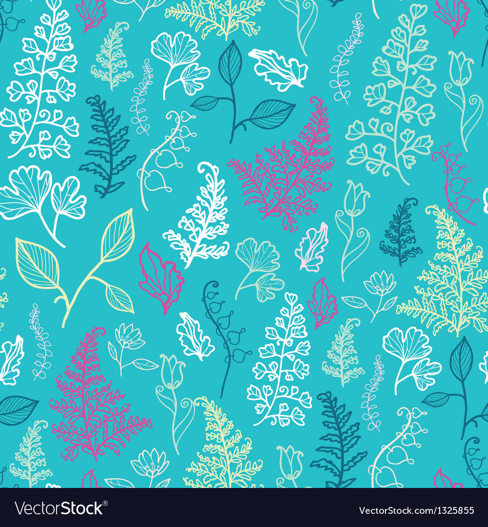 blue leaves seamless pattern