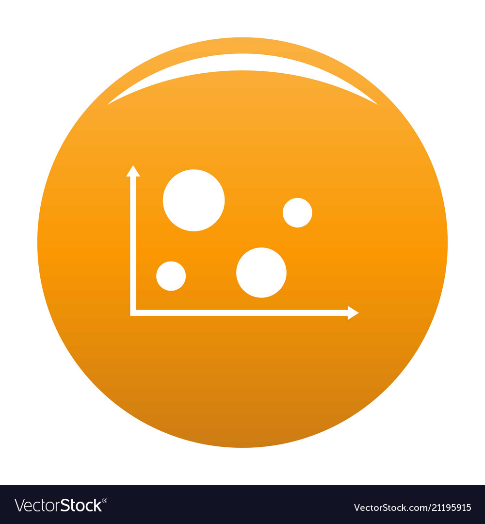 hight resolution of finance diagram icon orange vector image
