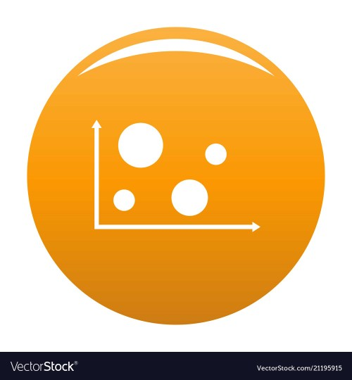 small resolution of finance diagram icon orange vector image