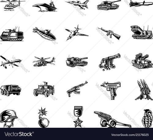 small resolution of military tool clipart cartoon set vector image