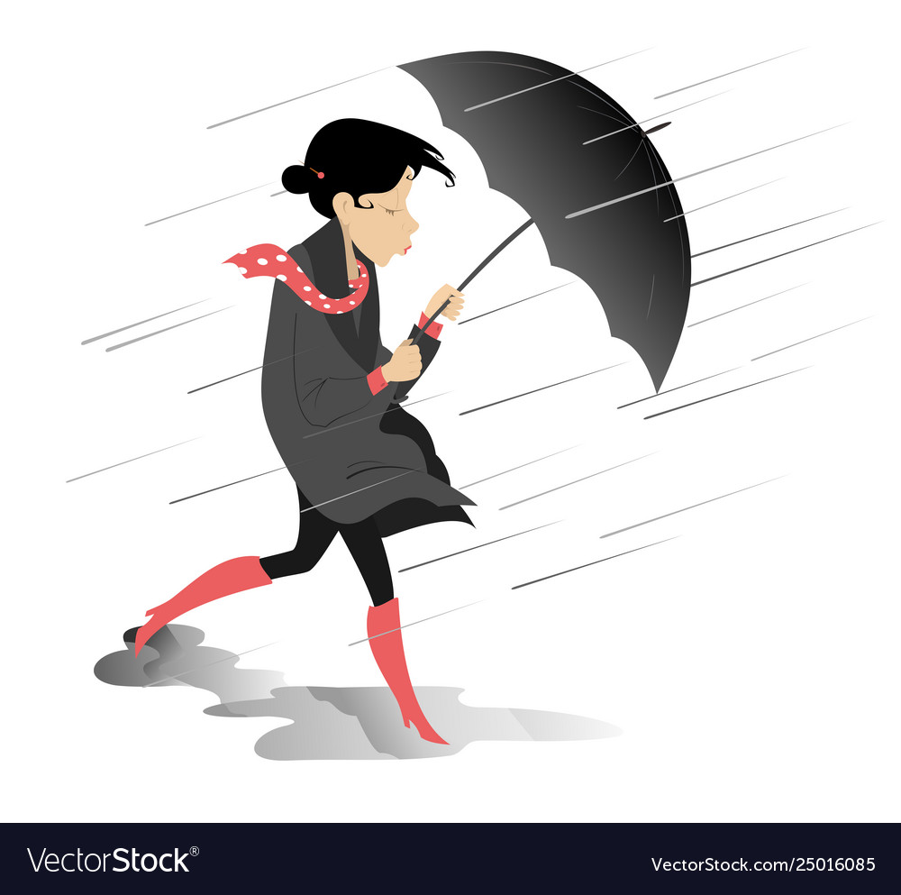 windy and rainy day