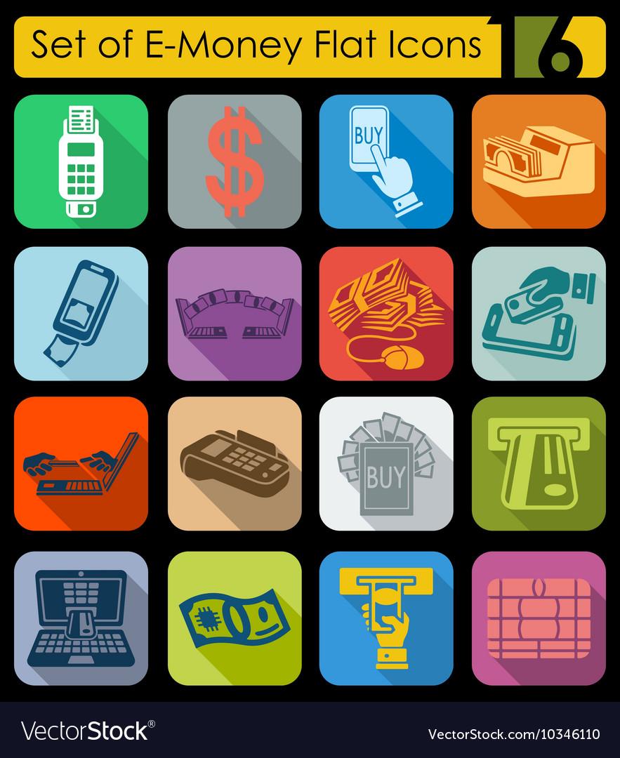 Logo E Money Vector : money, vector, E-money, Icons, Royalty, Vector, Image, VectorStock