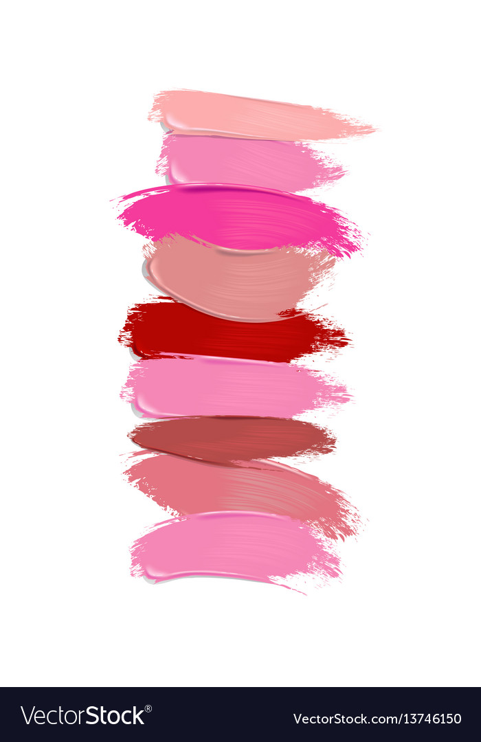 collection of lipstick smears
